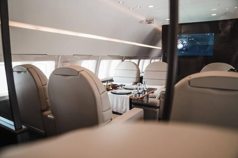 Royal Jet revealed its newly refurbished and upgraded Boeing Business Jet aircraft. Photo: Royal Jet
