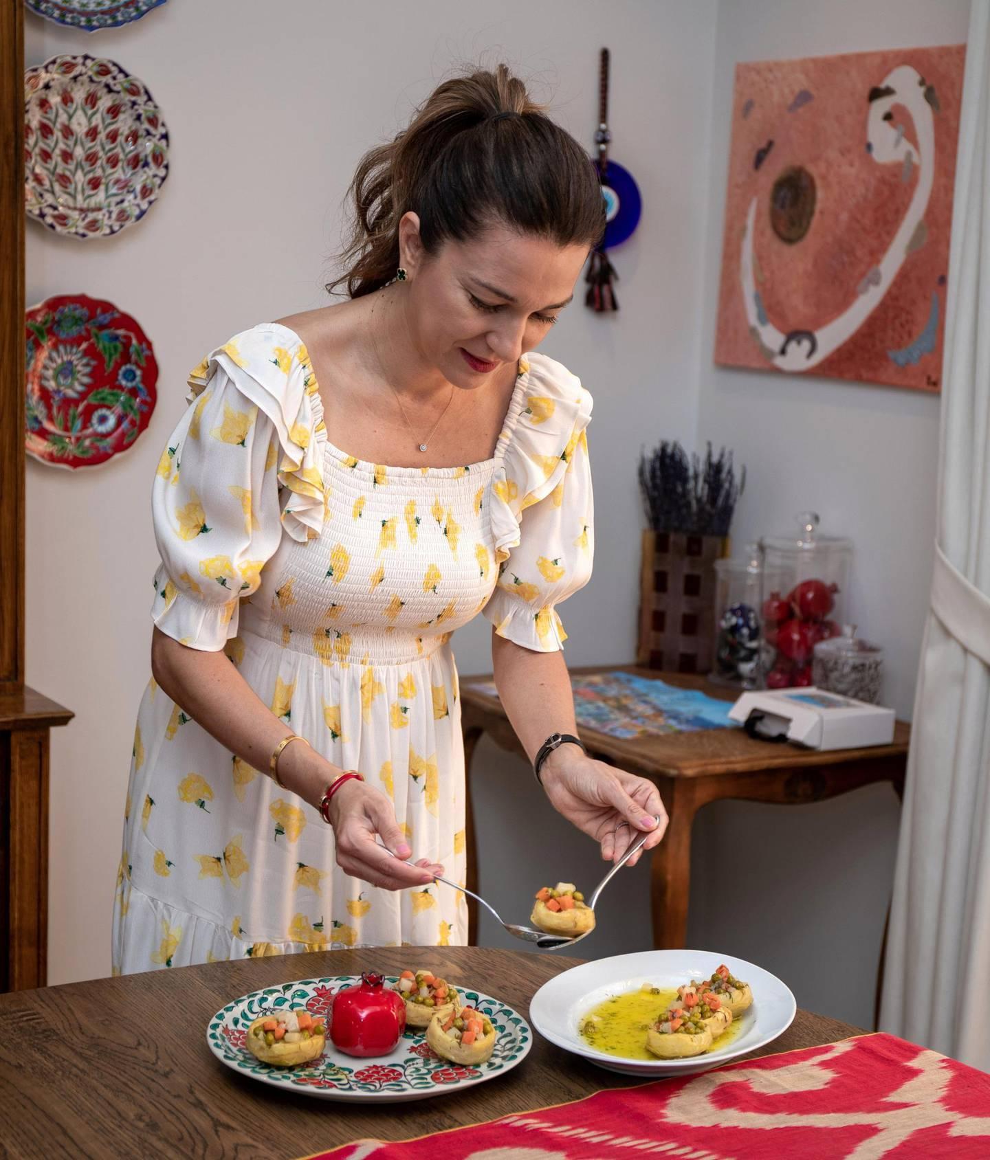 Abu Dhabi, United Arab Emirates, April 13, 2021.  Ramadan Recipes by Emel Moubarak.Victor Besa/The NationalSection:  ACReporter:  Hanan Sayed Worrell