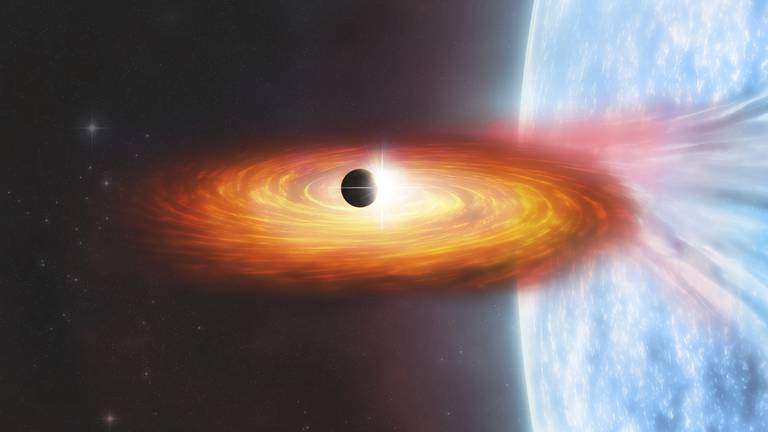An image that illustrates this article Planet found outside our galaxy for first time