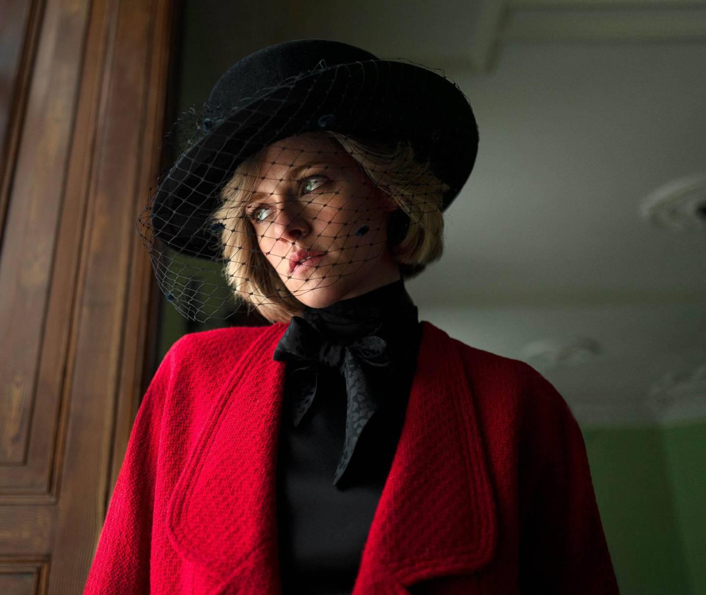 "Kristen Stewart as Diana, Princess of Wales, in Pablo Larraín's ""Spencer"". Courtesy Neon"