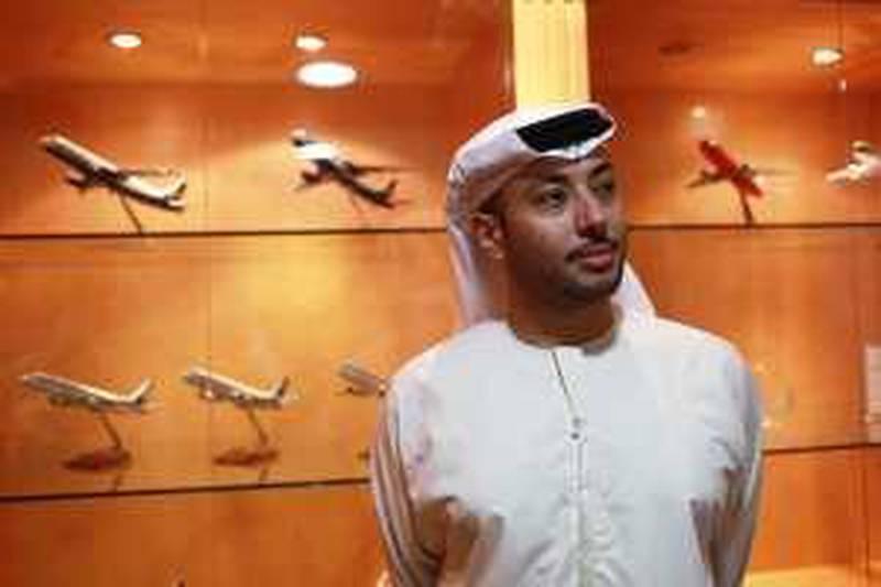 United Arab Emirates - Abu Dhabi - January 11th, 2010:  Salem al Noaimi, the CEO of Waha Capital in his offices on Khalifa Street.  (Galen Clarke/The National) *** Local Caption ***  GC01_01112010_Noaimi.jpg