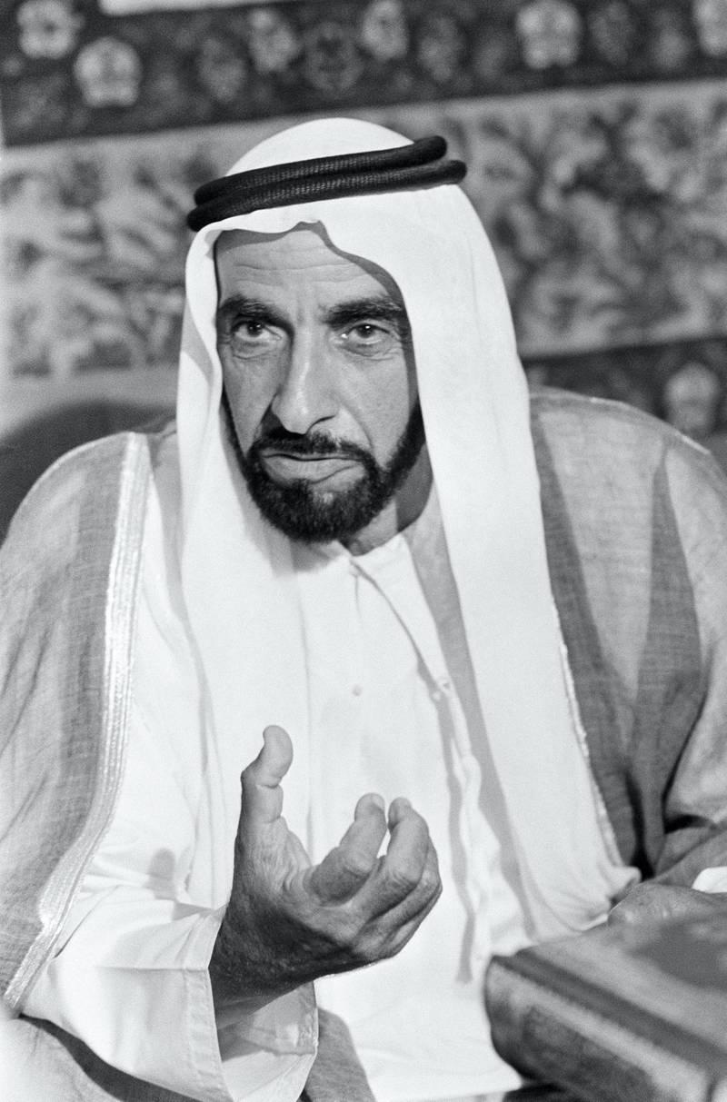 Sheikh Zayed Bin Sultan Al Nahyan, Emir of Abu Dhabi (Photo by Genevieve Chauvel/Sygma/Sygma via Getty Images)