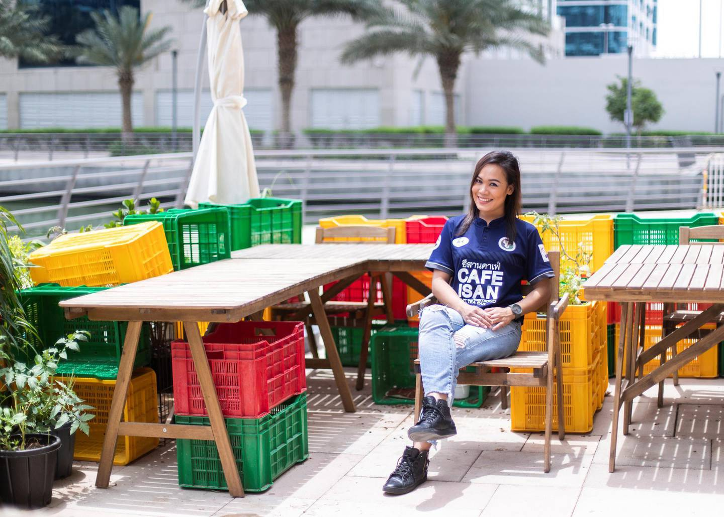 DUBAI, UNITED ARAB EMIRATES. 19 APRIL 2020. Chef New Chaklang of Cafe Isan in JLT.(Photo: Reem Mohammed/The National)Reporter:Section: