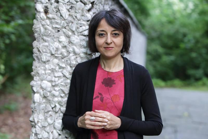 """(GERMANY OUT) Iman Mersal Dichterin, Ã""""gypten / Kanada   beim Poesiefestival Berlin bei HOME-EXIT/HOME (4),  LESUNG & GESPRÃ""""CH  am Mi 12.06.2013 - 18:30 Uhr  (Photo by Gezett/ullstein bild via Getty Images)"""