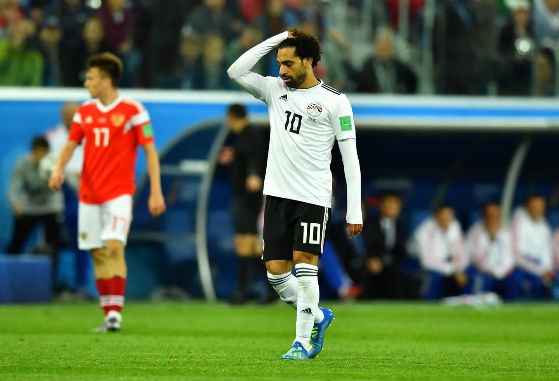Soccer Football - World Cup - Group A - Russia vs Egypt - Saint Petersburg Stadium, Saint Petersburg, Russia - June 19, 2018   Egypt's Mohamed Salah looks dejected    REUTERS/Dylan Martinez