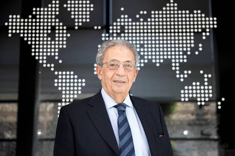 ABU DHABI, UNITED ARAB EMIRATES - DEC 5, 2017Amr Moussa, the former head of the Arab League, at the Emirates Diplomatic Academy.(Photo by Reem Mohammed/The National)Reporter: Mina Al OraibiSection: NA