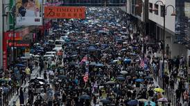 Hong Kong: thousands stage illegal march, trashing shops and metro stations