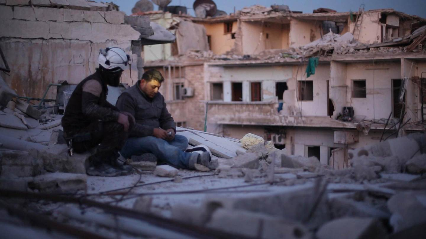 Khalid appears in <i>Last Men in Aleppo</i> by Feras Fayyad and Steen Johannessen, an official selection of the World Cinema Documentary Competition at the 2017 Sundance Film Festival. Courtesy of Sundance Institute. *** Local Caption ***  31136303622_f18cabda25_o.jpg