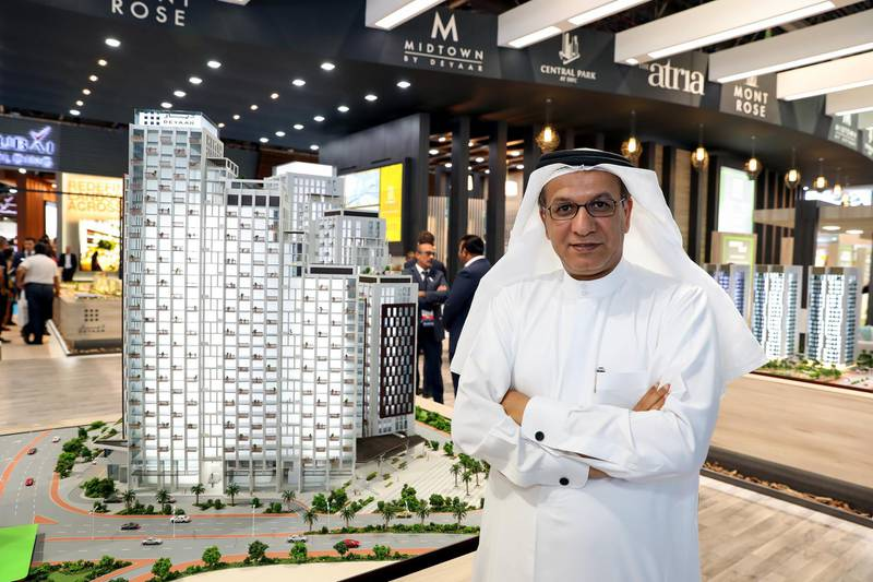 Dubai, United Arab Emirates - September 11th, 2017: Saeed Al Qatami CEO of Deyaar at the 16th addition of Cityscape Global. Monday, September 11th, 2017 at World Trade centre, Dubai.