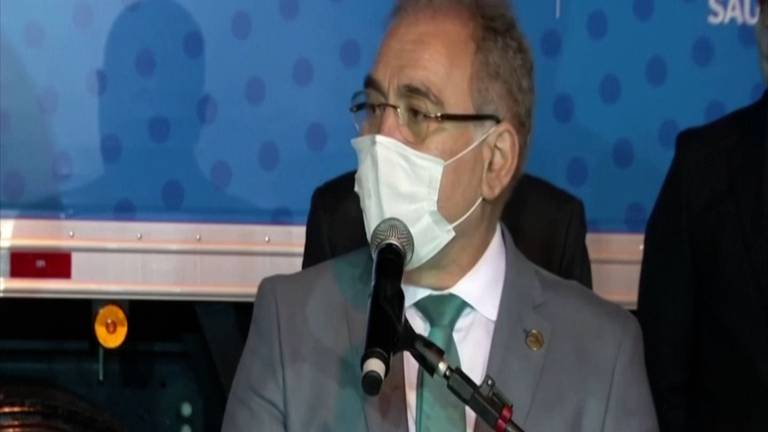 An image that illustrates this article Brazil's Health Minister tests positive for coronavirus