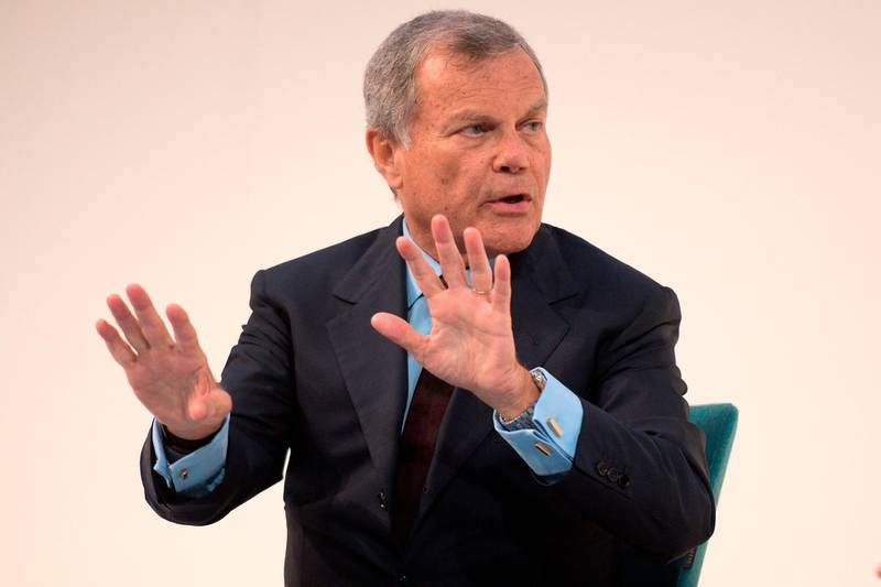 (FILES) In this file photo taken on November 21, 2016 Chief Executive Officer of WPP, Martin Sorrell addresses delegates at the annual Confederation of British Industry (CBI) conference in central London. Martin Sorrell quit on April 14, 2018 as chief executive of WPP less than a fortnight after the world's biggest advertising group revealed it had launched an independent investigation into allegations of misconduct against him. / AFP PHOTO / Justin TALLIS