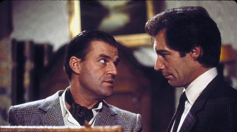 Timothy Dalton and Jeroen Krabbé in The Living Daylights (1987)
