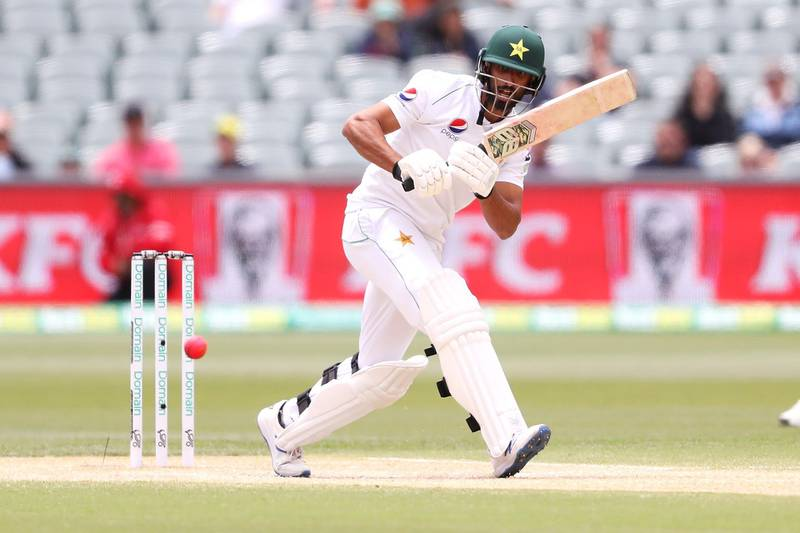 ADELAIDE, AUSTRALIA - DECEMBER 02: Shan Masood of Pakistan bats during day four of the Second Test match in the series between Australia and Pakistan at Adelaide Oval on December 02, 2019 in Adelaide, Australia. (Photo by Mark Kolbe/Getty Images)