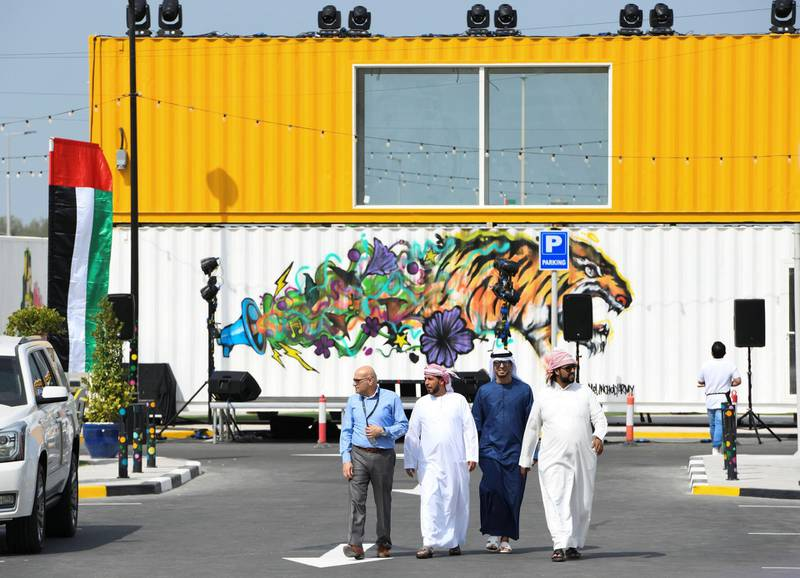Abu Dhabi, United Arab Emirates - MARSA MINA, new waterfront lifestyle destination opening ceremony designed to attract tourists arriving at the capital by cruise ship at Zayed Port. Khushnum Bhandari for The National