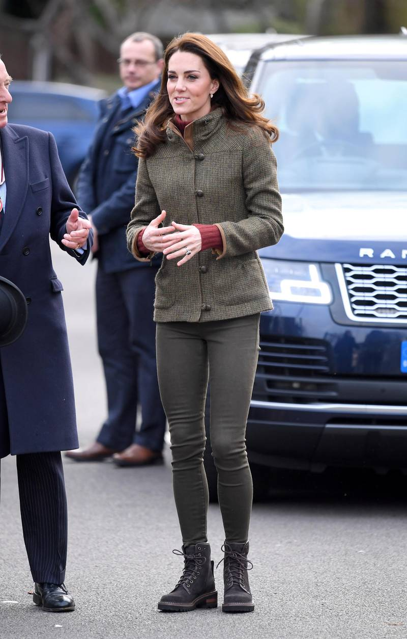 LONDON, ENGLAND - JANUARY 15:  (EMBARGOED FOR PUBLICATION IN UK NEWSPAPERS UNTIL 24 HOURS AFTER CREATE DATE AND TIME) Catherine, Duchess of Cambridge visits King Henry's Walk Garden on January 15, 2019 in London, United Kingdom.  (Photo by Karwai Tang/WireImage)