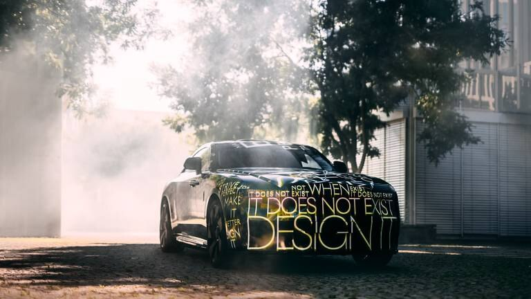 An image that illustrates this article Rolls-Royce gives sneak peek at first electric car: 'the most significant day'