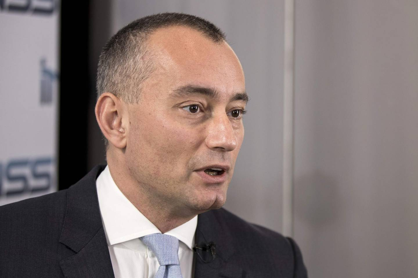 """(FILES) In this file photo Nickolay Mladenov, UN Special Coordinator for the Middle East Peace Process and Personal Representative of the Secretary-General to the Palestine Liberation Organization and the Palestinian Authority, speaks during an interview following the INSS conference, on January 30, 2018 in the Israeli city of Tel Aviv. The UN's special Mideast envoy called May 20, 2020 on Israel to drop plans to annex parts of the occupied West Bank, joining a growing international chorus of opposition. Envoy Nickolay Mladenov also called on the Palestinians to resume talks with the so-called Quartet, comprising the US, Russia, the EU and the United Nations. """"Israel must abandon threats of annexation,"""" Mladenov said during a meeting of the Security Council.   / AFP / JACK GUEZ"""