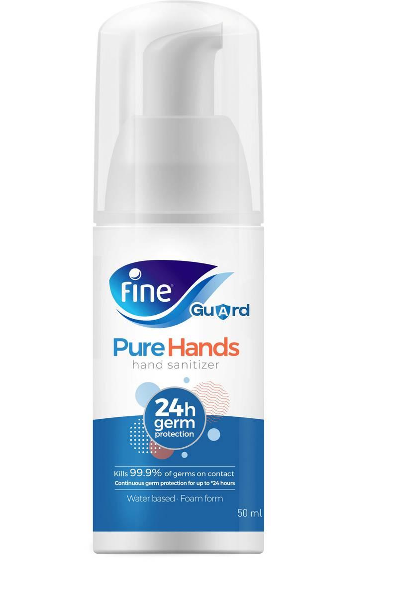 Pure hand. courtesy: Fine hygienic holding.