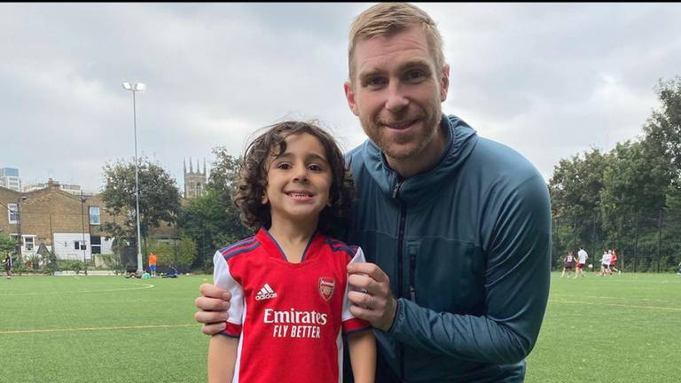 An image that illustrates this article Four-year-old footballer scouted by Arsenal while still in nursery