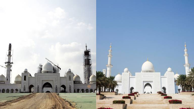 An image that illustrates this article UAE then and now: Sheikh Zayed Grand Mosque