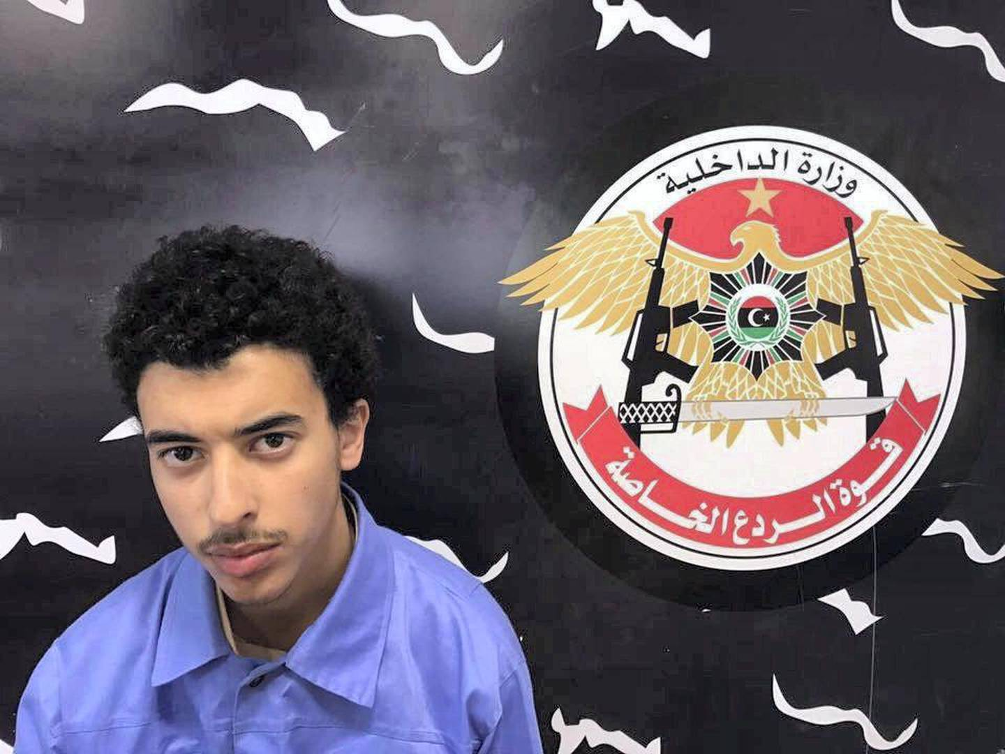 Hashem Abedi, the brother of a suicide bomber who attacked a concert in Manchester in 2017, is seen after being arrested, in this undated picture released by Libya's Ministry of Interior's Special Deterrence Forces and obtained by Reuters on July 18, 2019. Libya's Ministry of Interior's Special Deterrence Forces/Handout via REUTERS ATTENTION EDITORS - THIS PICTURE WAS PROVIDED BY A THIRD PARTY. NO RESALES . NO ARCHIVES.