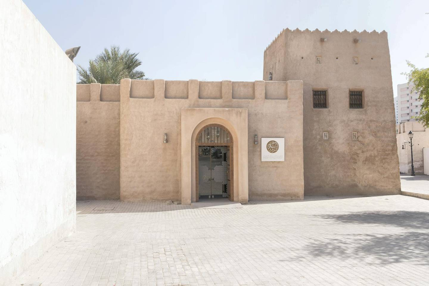 Sharjah, United Arab Emirates, November 15, 2017:    General view of the Sharjah Heritage Museum in the Heart of Sharjah area of Sharjah November 15, 2017. Artist Dr. Karima Alshomely's installation, The Emirati Burqa: An Intimate Object, is on display from November 15th to January 4th. Christopher Pike / The National  Reporter: Hala Khalaf Section: Arts & Culture