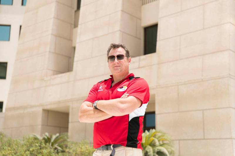 ABU DHABI, UNITED ARAB EMIRATES - JULY 1, 2018. Peter Henderson, Abu Dhabi Saracens coach.(Photo by Reem Mohammed/The National)Reporter: PaulSection: SP