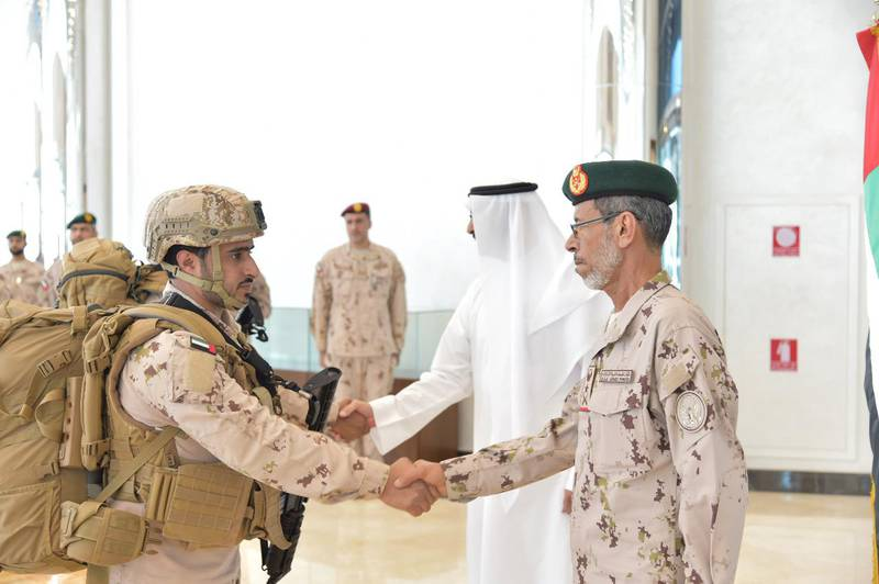 ABU DHABI, 30th October, 2019 (WAM) -- The General Command of the UAE Armed Forces has announced the return of its troops from the Aden Governorate in Yemen after having successfully accomplished their role in liberating and stabilising Aden, and transferring its charge to Saudi and Yemeni forces, who will now maintain the security and stability of the Governorate.The UAE troops were received by Mohammed bin Ahmed Al Bowardi, Minister of State for Defence Affairs, and Lt. General Hamad Mohammed Thani Al Rumaithi, Chief of Staff of the UAE Armed Forces. Wam
