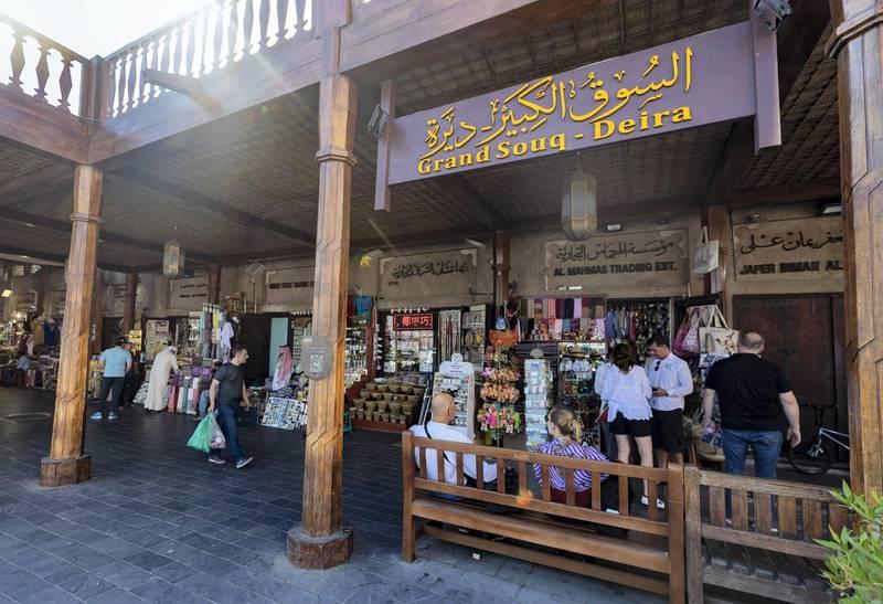 Dubai, United Arab Emirates - June 02, 2019: The Grand Souq, Deira. DeiraÕs souq area has been revamped. Sunday the 2nd of June 2019. Deira, Dubai. Chris Whiteoak / The National