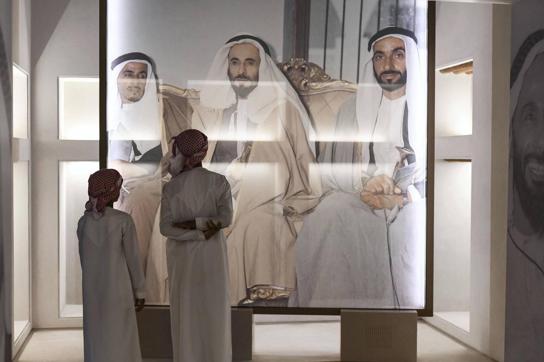 Abu Dhabi, United Arab Emirates - Qasr Al Hosn national landmark displays Abu DhabiÕs ancient history for the opening night on December 7, 2018. (Khushnum Bhandari/ The National)