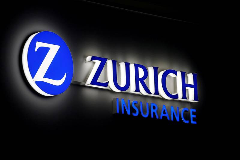FILE PHOTO: The logo of Zurich Insurance is seen in Davos, Switzerland, January 20, 2020.  REUTERS/Arnd Wiegmann/File Photo