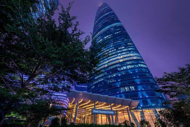 Four Seasons Hotel Guangzhou in Guangzhou, China. Courtesy Four Seasons Hotels and Resorts