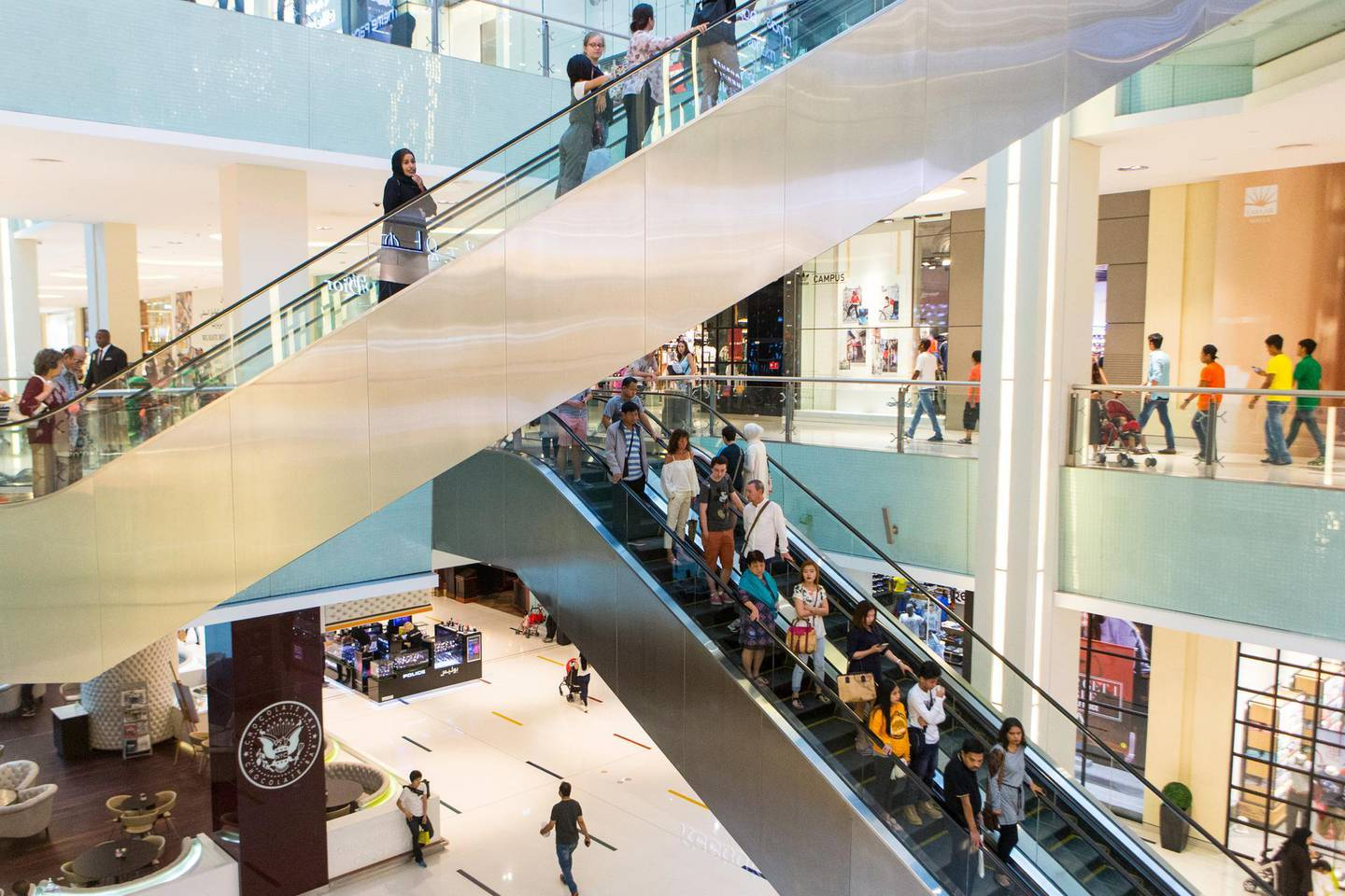 Dubai, United Arab Emirates, June 23, 2017:     People shop ahead of  Eid Al Fitr at the Dubai Mall in Dubai on June 23, 2017. Eid Al Fitr, or the 'festival of breaking fast', marks the end of the holy month of Ramadan and the beginning of Shawaal, the 10th month of the Islamic lunar calendar. Christopher Pike / The NationalJob ID: 97926Reporter:  N/ASection: NewsKeywords:  *** Local Caption ***  CP0623-na-Standalone-Eid Shopping-02.JPG