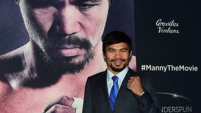 An image that illustrates this article Can Manny Pacquiao KO his political rivals?