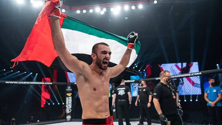 An image that illustrates this article Mohammad Yahya makes history as first Emirati to win MMA title