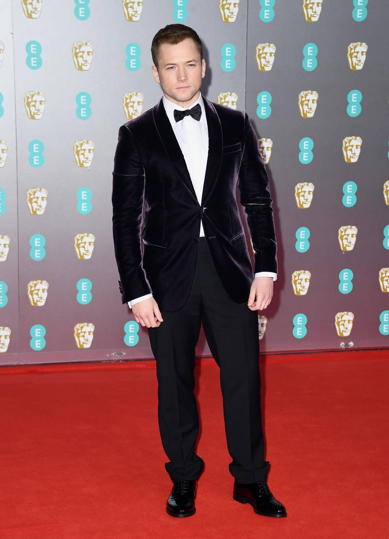 LONDON, ENGLAND - FEBRUARY 02: Taron Egerton attends the EE British Academy Film Awards 2020 at Royal Albert Hall on February 02, 2020 in London, England. (Photo by Gareth Cattermole/Getty Images)
