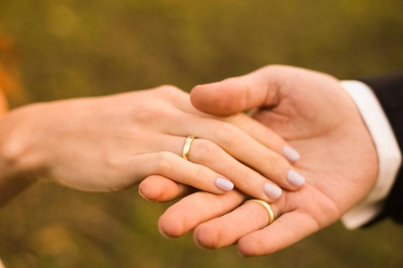 Wedding rings. Getty Images