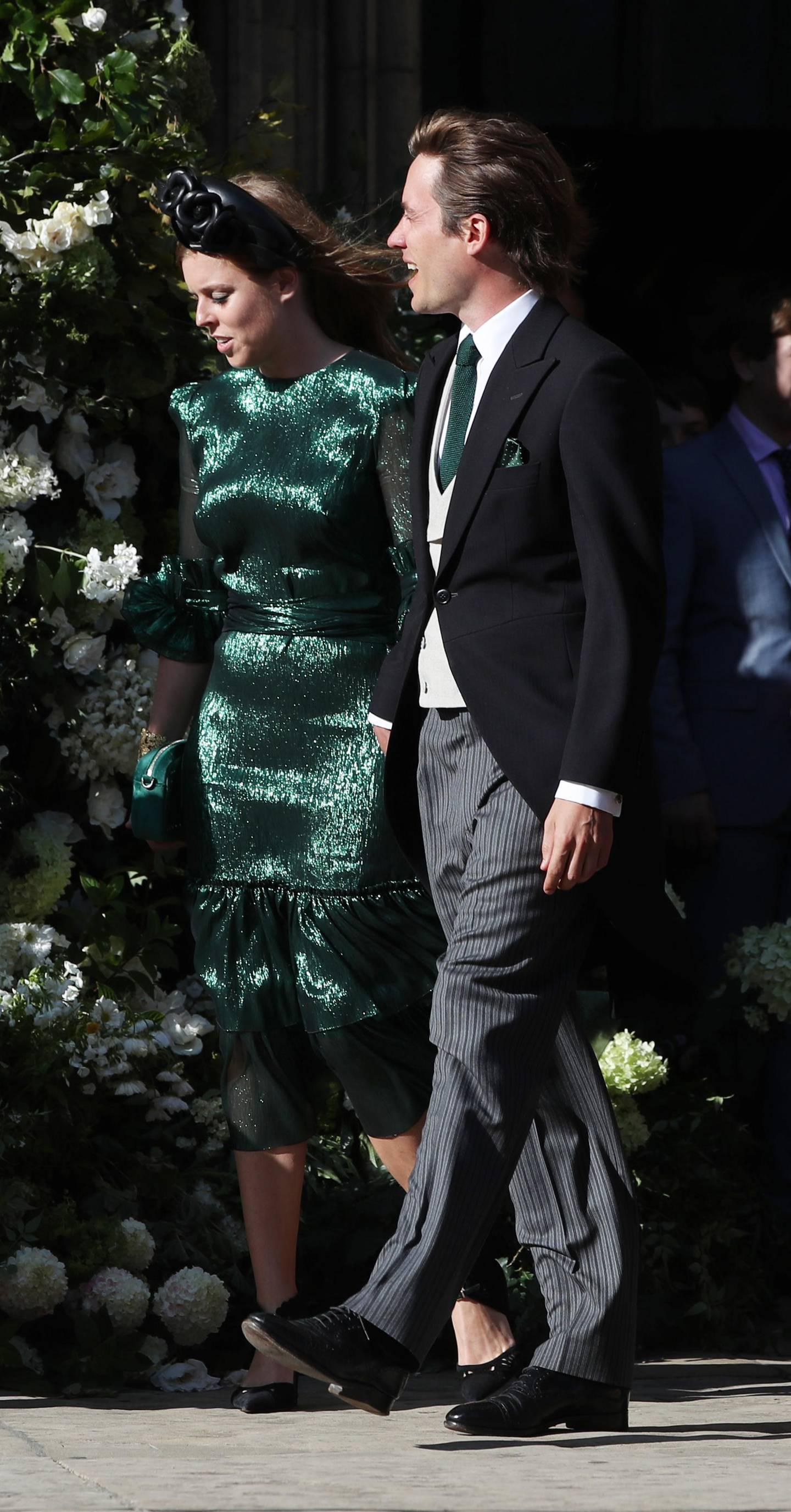Princess Beatrice of York leaves York Minster after the wedding of Ellie Goulding and Caspar Jopling. (Photo by Peter Byrne/PA Images via Getty Images)