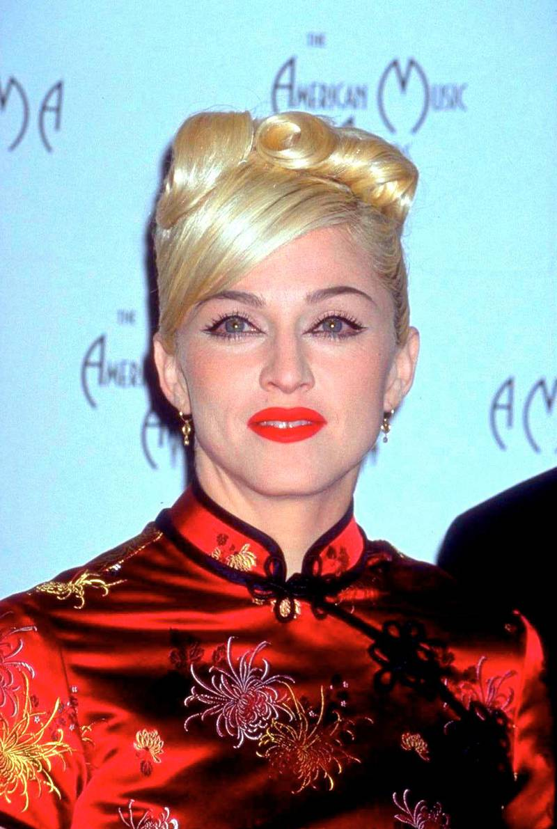 American actress and singer Madonna at the American Music Awards, 1999. (Photo by Diane Freed/Getty Images)