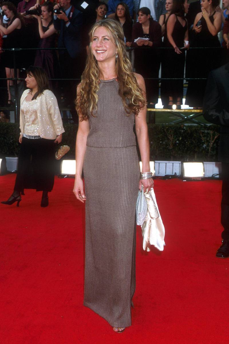 381592 01: 3/12/00. Beverly Hills, CA. Jennifer Aniston atteding the 6th Ann. SAG Awards. Photo by Brenda Chase Online USA Inc.