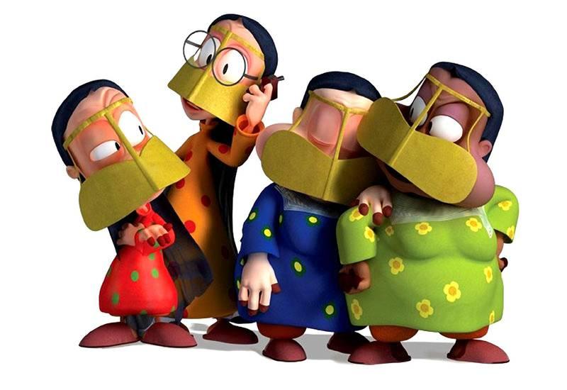 The grandmothers form the Freej cartoon.  CREDIT: Courtesy Flash Entertainment