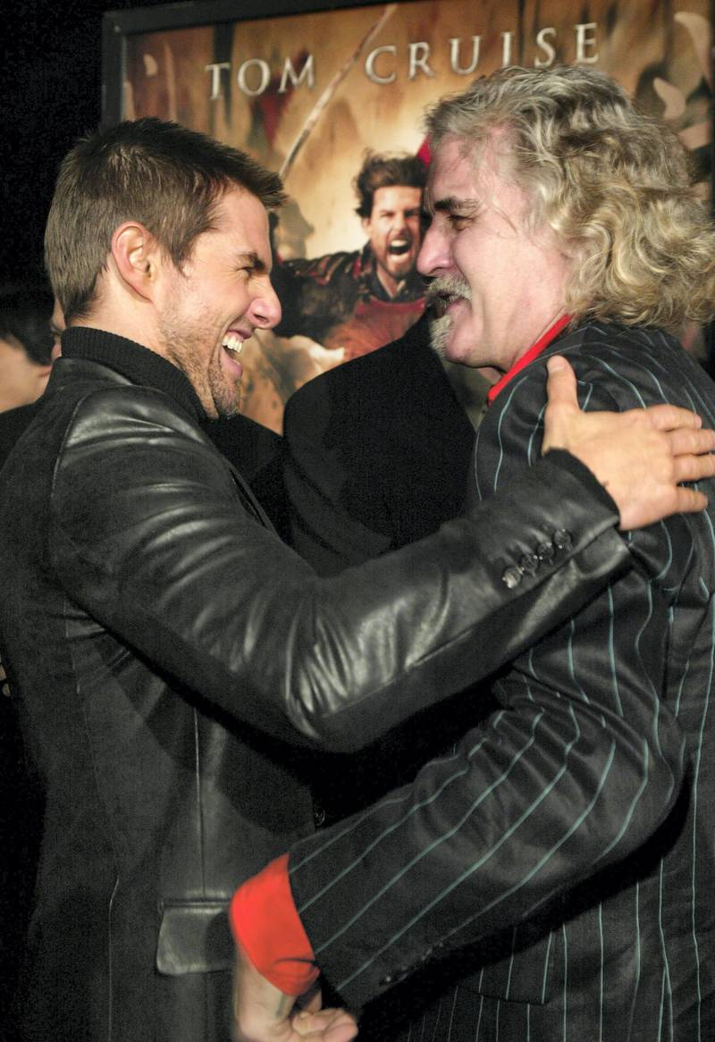 """Tom Cruise and Billy Connolly during """"The Last Samurai"""" - Los Angeles Premiere at Mann's Village Theater in Westwood, California, United States. (Photo by Chris Polk/FilmMagic)"""
