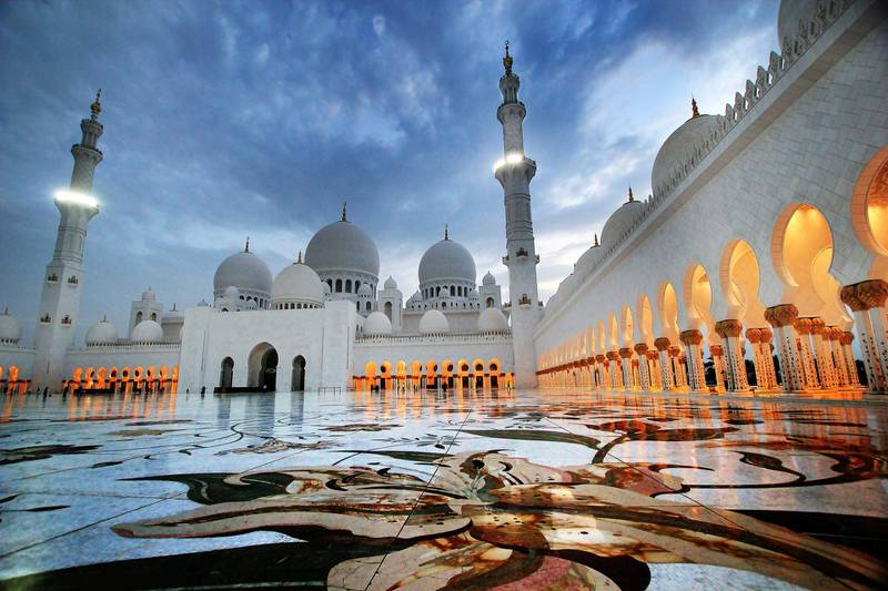 The Sheikh Zayed Grand Mosque represents great sentimental and moral value for the people of the UAE, and their leadership. It also constitutes one of the most prominent and beautiful architectural monuments in the world