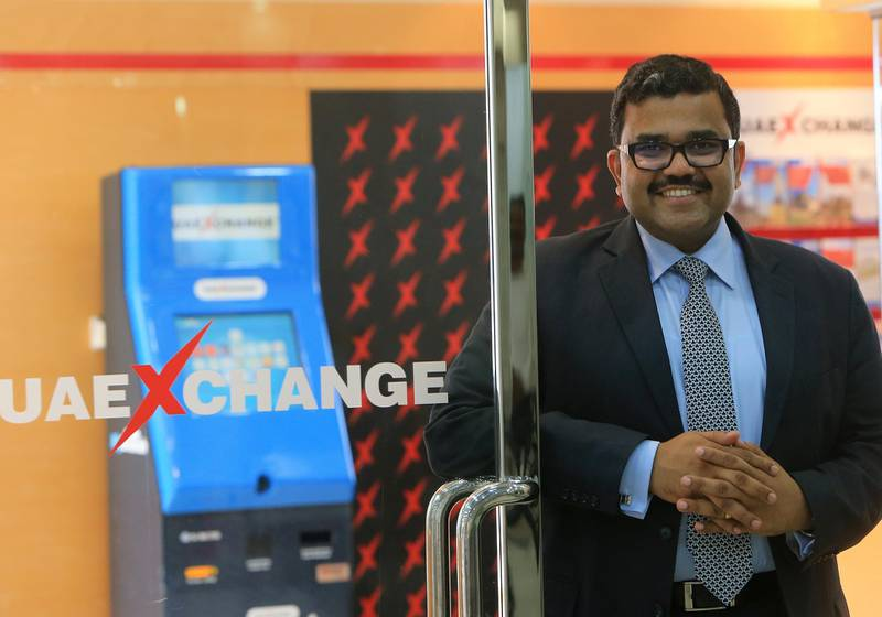 ABU DHABI - UNITED ARAB EMIRATES - 04SEPT2015 - Promoth Manghat, ceo of UAE Exchange Group at hs office in Abu Dhabi. Ravindranath K / The National (for News) NO REPORTER NAME MENTIONED. *** Local Caption ***  RK0409-promothmanghat08.jpg