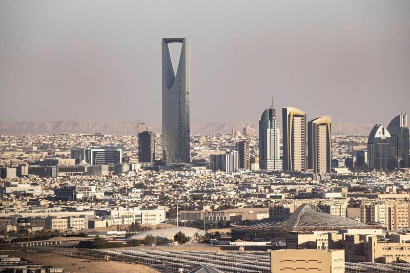 Mandatory Credit: Photo by ANDRE PAIN/EPA-EFE/Shutterstock (10531640c) An aerial view shows the skyline of Riyadh, Saudi Arabia, 10 January 2020 (issued 21 January 2020). Riyadh architecture, Saudi Arabia - 10 Jan 2020