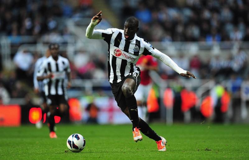 NEWCASTLE UPON TYNE, ENGLAND - OCTOBER 07:  Newcastle United player Demba Ba in action during the Barclays Premier league game between Newcastle United and  Manchester United at Sports Direct Arena on October 7, 2012 in Newcastle upon Tyne, England.  (Photo by Stu Forster/Getty Images)
