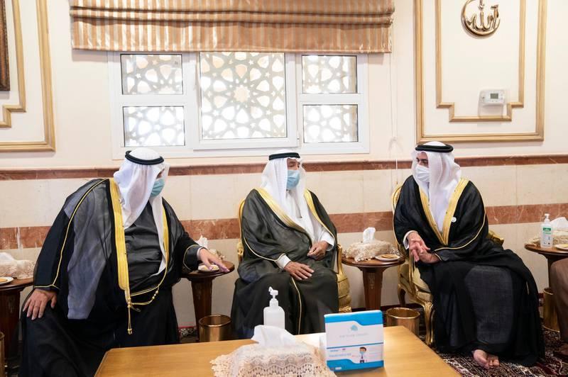 Lt. General Sheikh Saif bin Zayed, UAE Deputy Prime Minister and Minister of the Interior, conveys condolences of UAE leaders to Emir of Kuwait on death of Sheikh Sabah Al-Ahmad. Wam