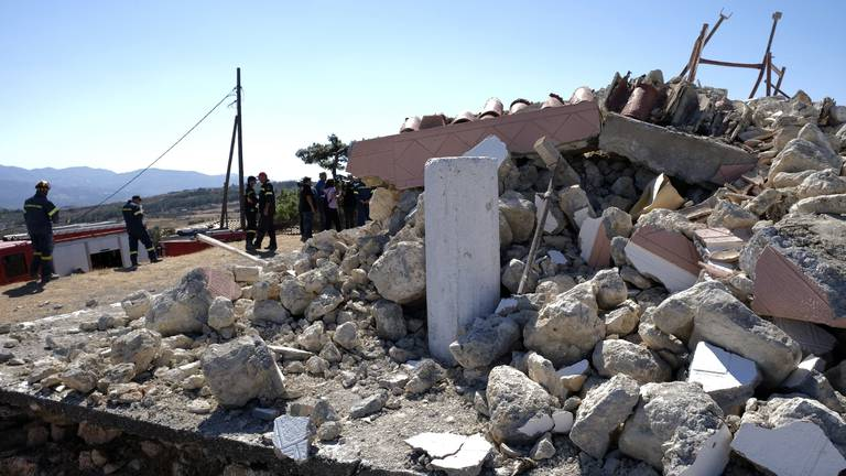 An image that illustrates this article Greek earthquake leaves one dead and many injured