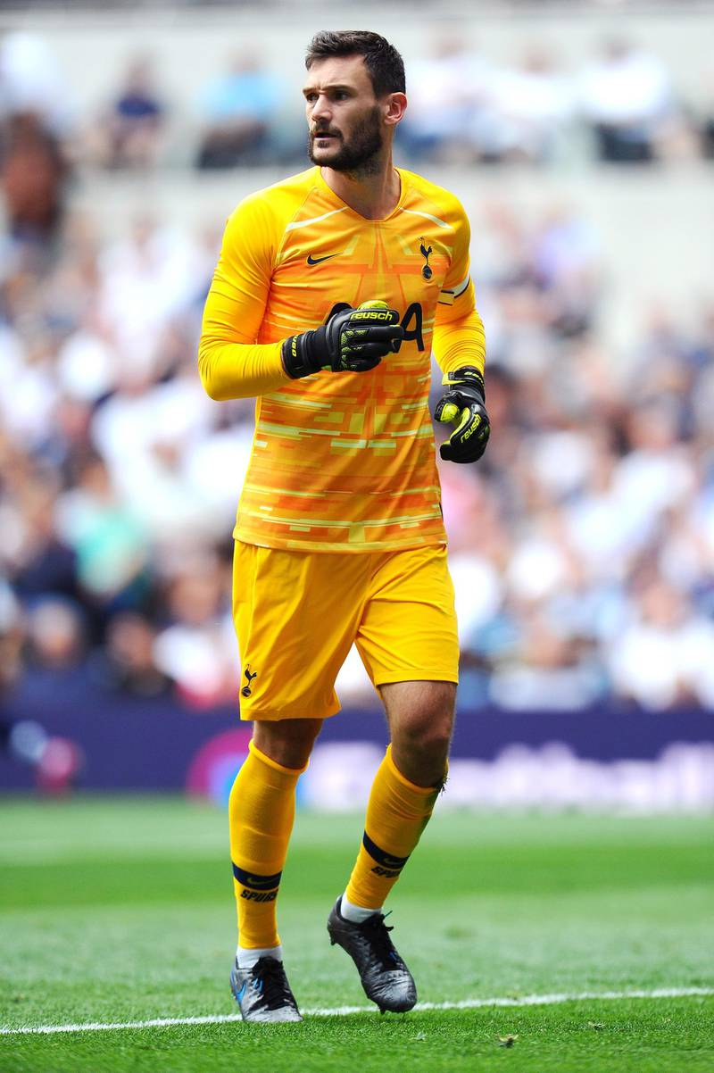 LONDON, ENGLAND - AUGUST 04: Hugo Lloris of Tottenham Hotspur looks on during the 2019 International Champions Cup match between Tottenham Hotspur and FC Internazionale at Tottenham Hotspur Stadium on August 04, 2019 in London, England. (Photo by Alex Burstow/Getty Images)