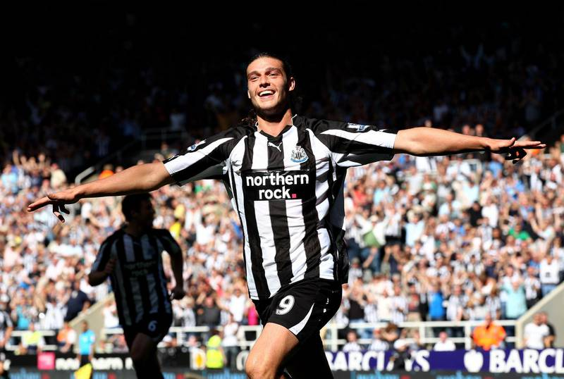 NEWCASTLE UPON TYNE, ENGLAND - AUGUST 22:  Andy Carroll of Newcastle United celebrates scoring his teams fourth goal during the Barclays Premier League match between Newcastle United and Aston Villa at St James' Park on August 22, 2010 in Newcastle upon Tyne, England.  (Photo by Clive Brunskill/Getty Images)